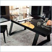 Rossetto Nightfly Rectangular Dining Table in Ebony