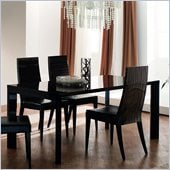Rossetto Nightfly Rectangular Dining Table with Extensions in Ebony