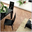 ADD TO YOUR SET: Rossetto Nightfly Wood Dining Chairs in Ebony (Set of 2)