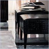 Rossetto Divine Pouf in Black