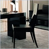 Rossetto Nightfly Wood Dining Chairs in Black (Set of 2)