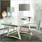 Rossetto Nightfly Rectangular Dining Table in White