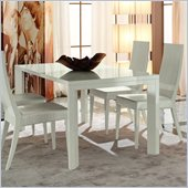 Rossetto Nightfly Rectangular Dining Table with Extensions in White