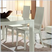 Rossetto Nightfly Wood Dining Chairs in White (Set of 2)