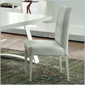 Rossetto Nightfly Padded Dining Chairs in White (Set of 2)