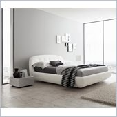 Rossetto Eclipse Leather Effect Platform Bed in White