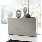 Rossetto Sound Open Pore 3 Drawer Dresser in Grey