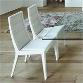Rossetto Sapphire Dining Chairs in White (Set of 2)