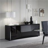 Rossetto Sapphire 74 Inch Buffet in Black