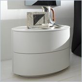 Rossetto Moon 2 Drawer Night Stand in White