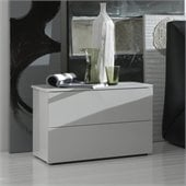 Rossetto Fun 2 Drawer Night Stand in White