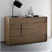 Rossetto Square 4 Drawer  Dresser in Walnut
