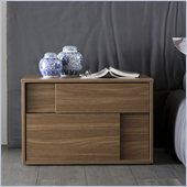 Rossetto Square Right Night Stand in Walnut