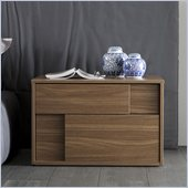 Rossetto Square Left Night Stand in Walnut