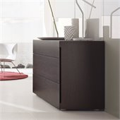 Rossetto Sound 3 Drawer Dresser in Wenge