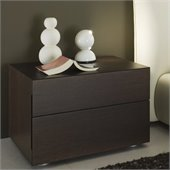 Rossetto Sound 2 Drawer Night Stand in Wenge