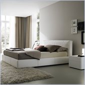 Rossetto Touch Platform Bed in White