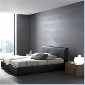Rossetto Touch Platform Bed in Brown