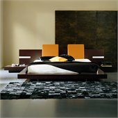 Rossetto Win Floating Platform Bed in Wenge with Lights