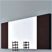 Rossetto Line Wall Mounted Mirror in Wenge