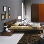 Rossetto Win Platform Bed in Wenge Without Lights