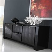 Rossetto Diamond 2 Door 2 Drawer Buffet in Black
