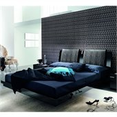 Rossetto Diamond Platform Bed in Black