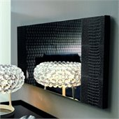 Rossetto Diamond Mirror in Black