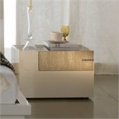 Rossetto Diamond Right Night Stand in Ivory