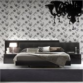 Rossetto Nightfly Platform Bed in Ebony