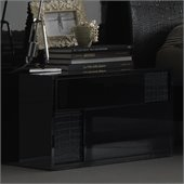 Rossetto Nightfly Left Night Stand in Black
