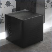 Rossetto Nightfly Pouf in Black