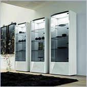 Rossetto Sapphire Right Door Curio in White