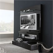 Rossetto Diamond Wall TV Unit in Black