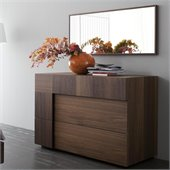 Rossetto Air Dresser and Mirror Set in Warm Oak