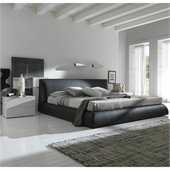 Rossetto Coco Brown Platform Bed 3 Piece Bedroom Set