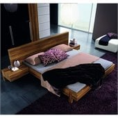 Rossetto Gap Platform Bed 3 Piece Bedroom Set in Walnut