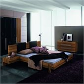 Rossetto Gap Platform Bed 6 Piece Bedroom Set in Walnut