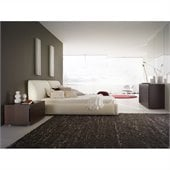 Rossetto Pavo Milky Plaftorm Bed 3 Piece Bedroom Set
