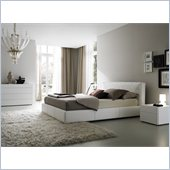 Rossetto Touch White Platform Bed 3 Piece Bedroom Set
