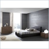 Rossetto Touch Platform Bed with Night Stands 4 Piece Bedroom Set
