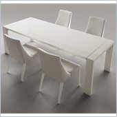 Rossetto Domino 5  Piece Rectangular Dining Table Set in Ivory