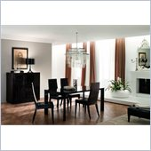 Rossetto Nightfly 5 Piece Rectangular Dining Table Set in Ebony