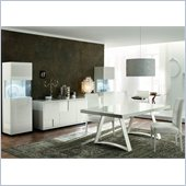 Rossetto Nightfly 6 Piece Rectangular Dining Table Set in White