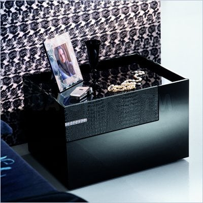 Rossetto Diamond Right Night Stand in Black