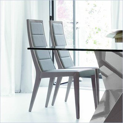 Rossetto Sapphire Dining Chairs in Grey (Set of 2)
