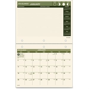 At-A-Glance Monthly Calendar