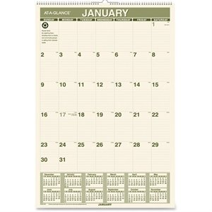 At-A-Glance Recycled Green Living Wall Calendar