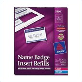 Avery Plain Insert Badge Refill