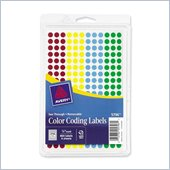 Avery See Through Round Color Coding Label